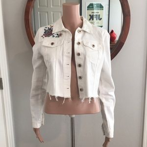 Women's M cropped denim jacket